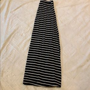 Forever 21 Black and White Striped Maxi Skirt